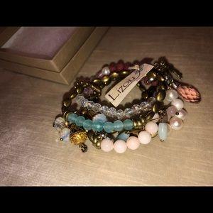 NWT Lizou Collection Cluster Bracelets